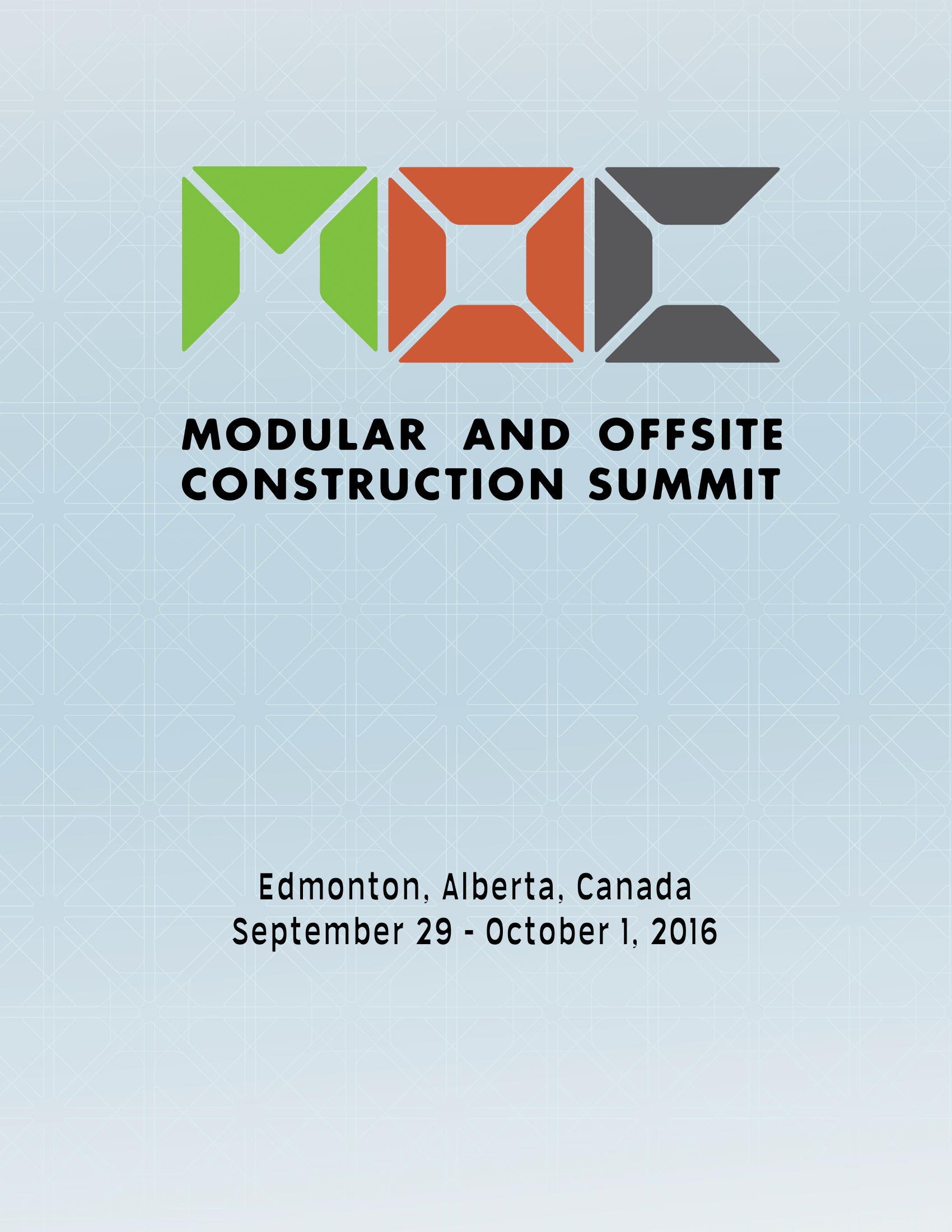 2016 Modular and Offsite Construction Summit Proceedings